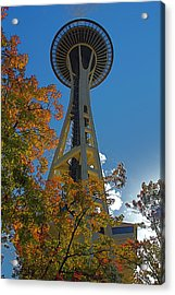 Space Needle Autumn Acrylic Print