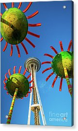 Space Needle Bloom Acrylic Print by Inge Johnsson