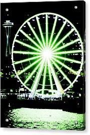Space Needle Ferris Wheel Acrylic Print