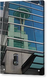 Space Needle Reflection Acrylic Print by Todd Kreuter