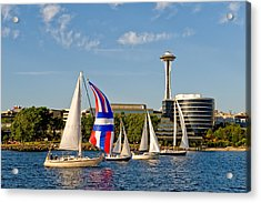 Space Needle Seattle Acrylic Print by Tom Dowd