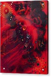 Space Poppies Acrylic Print