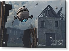 Space Probes And Androids Survey An Acrylic Print by Mark Stevenson