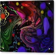 Space Rocks Acrylic Print