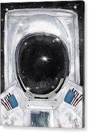 Acrylic Print featuring the painting Space Selfie by Bri B