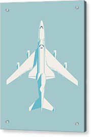 Space Shuttle And 747 Transport Jet - Sky Acrylic Print