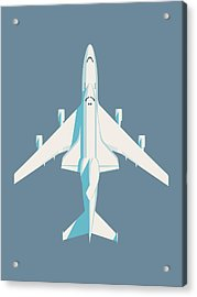 Space Shuttle And 747 Transport Jet - Slate Acrylic Print