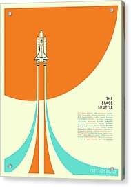 Space Shuttle  Acrylic Print by Jazzberry Blue
