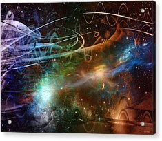 Space Time Continuum Acrylic Print by Linda Sannuti