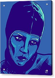 Spaceman In Blue Acrylic Print by Giuseppe Cristiano
