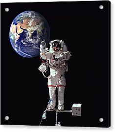 Spacewalk Earth Acrylic Print