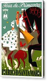 Spain 1953 Puerto De Santa Maria Spring Fair Poster Acrylic Print
