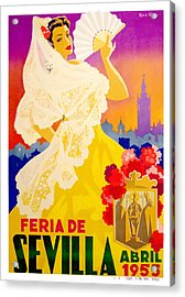 Spain 1955 Seville April Fair Poster Acrylic Print