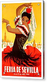 Spain 1959 Seville April Fair Poster Acrylic Print