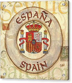Spain Coat Of Arms Acrylic Print by Debbie DeWitt