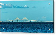 Span Over St. Petersburg Acrylic Print by Marvin Spates