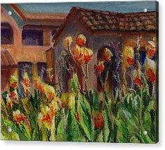 Spanish Abode Acrylic Print by Patricia Halstead