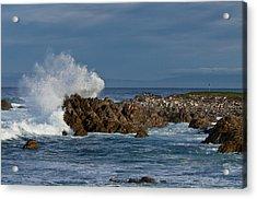 Spanish Bay Golf Ocean Wave Acrylic Print