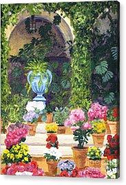 Spanish Courtyard Acrylic Print by Lynne Reichhart