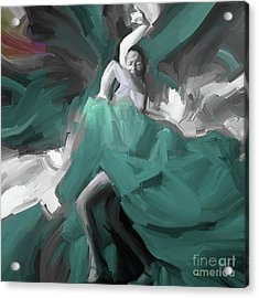 Acrylic Print featuring the painting Spanish Dance Art 56yt by Gull G