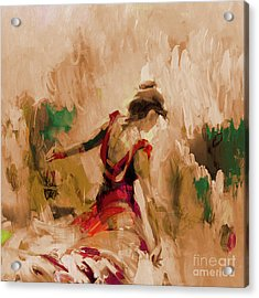 Acrylic Print featuring the painting Spanish Dance Culture  by Gull G