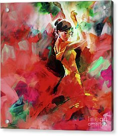 Acrylic Print featuring the painting Spanish Dance by Gull G