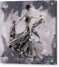 Acrylic Print featuring the painting Spanish Dance Painting 03 by Gull G