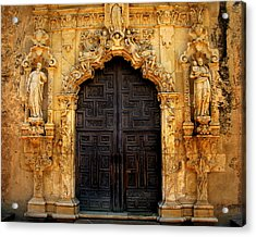 Spanish Doorway Acrylic Print by Perry Webster