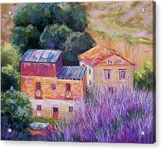 Spanish Farmhouses Acrylic Print by Candy Mayer
