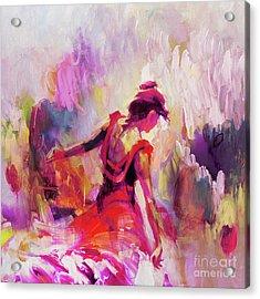 Spanish Female Art 0087 Acrylic Print