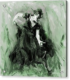 Acrylic Print featuring the painting Spanish Flamenco Dancer by Gull G