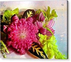 Spanish Flowers Acrylic Print by John Poon