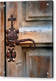 Spanish Mission Door Handle Acrylic Print by Jill Battaglia