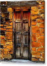 Spanish Mission Door Acrylic Print by Perry Webster