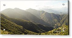 spanish mountain range, Malaga, Andalusia, Acrylic Print by Perry Van Munster