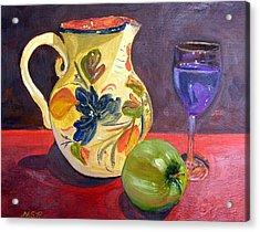 Spanish Sangria Acrylic Print by Maria Soto Robbins