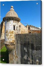 Spanish Sentry Post Of San Cristobal Fort San Juan Puerto Rico Acrylic Print by George Oze