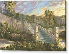 Spanish Steps Acrylic Print by Jose Rodriguez