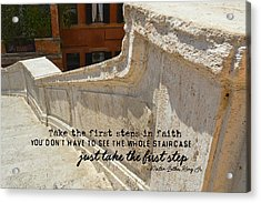 Spanish Steps Quote Acrylic Print