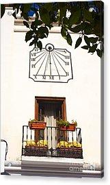 Spanish Sun Time Acrylic Print