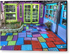 Spanish Village Art Center Acrylic Print by Jane Linders