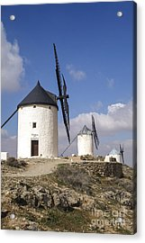 Spanish Windmills In The Province Of Toledo, Acrylic Print