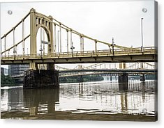 Spanning The Allegheny Acrylic Print by David Bearden