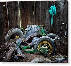 Spare Tires A-plenty Acrylic Print by Royce Howland