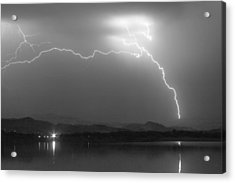 Spark In The Night In Black And White Acrylic Print