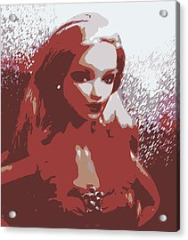 Sparkle Barbie Acrylic Print by Karen J Shine