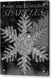 Sparkle Holiday Card Acrylic Print