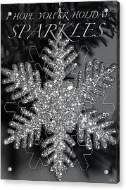 Sparkle Holiday Card Acrylic Print by Debra     Vatalaro