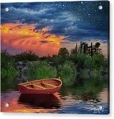 Sparkle Pond Acrylic Print