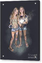 Sparklers Acrylic Print